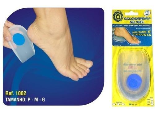 talonera silicón para espolon calcaneo con punto azul (par)