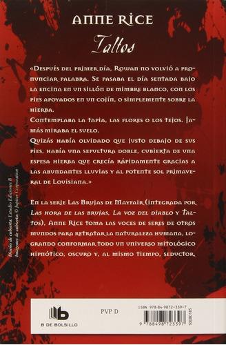 taltos de anne rice - las brujas de mayfair iii - libro