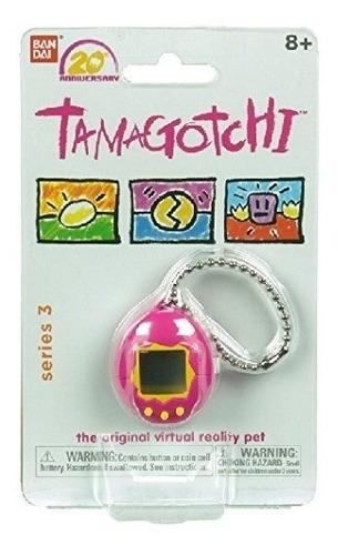 tamagotchi 20th anniversary bandai virtual pet pink yellow