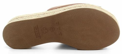 tamanco bebece flat form salto 6,0cm linha - 4715182 caramel