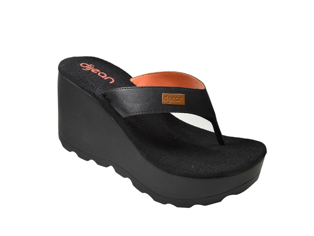 3085404215 tamanco dijean zaxy lipstick preto laranja plataforma sandal. Carregando  zoom.