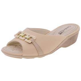 3596752b88 Sandalias Salto Baixo Rose Comfortflex - Sapatos no Mercado Livre Brasil
