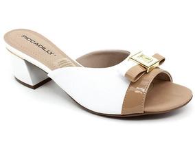 e655ef4851 Pixole Feminino Sandalias Piccadilly - Sapatos para Feminino Branco ...