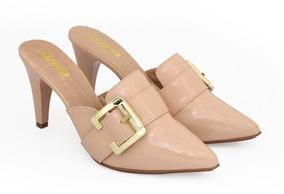 c5a9904927 Scarpin Verniz Azul Royal Salto Baixo Sandalias - Sapatos no Mercado ...