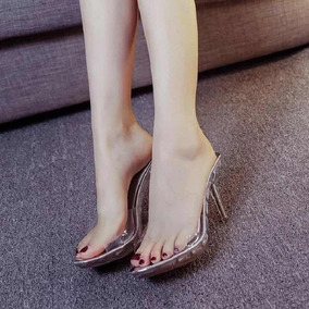 5a722022d2 Sandalias Altas Em Acrilico Transparente - Sapatos no Mercado Livre Brasil