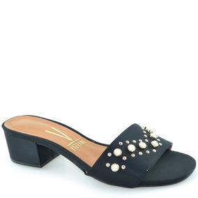 f1ba385342 Sandalia Vizzano Preta Perolas E Sapatos - Sapatos no Mercado Livre ...