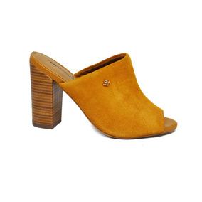 0efb6b1be8 Sapato Mule De Salto Feminino Cravo canela - Bege