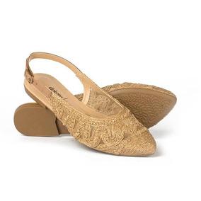 13a0292005 Mule Sapato Feminino Dakota Sapatilha Chanel Nude G1492