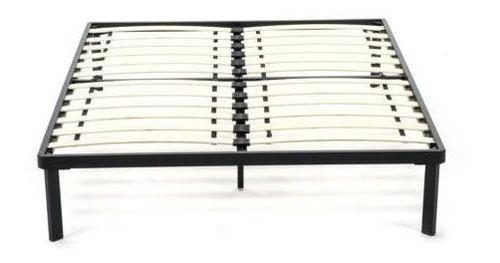 tamaño cama de plataforma metal marco madera listones d-0284