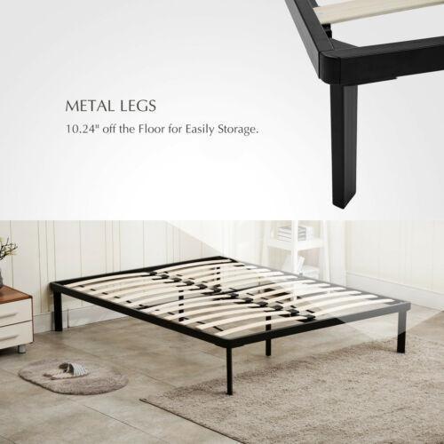 tamaño completo negro cama de plataforma metal marco li-2314