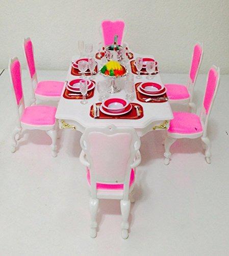 tamaño de barbie dollhouse muebles-gran comedor juego de ju