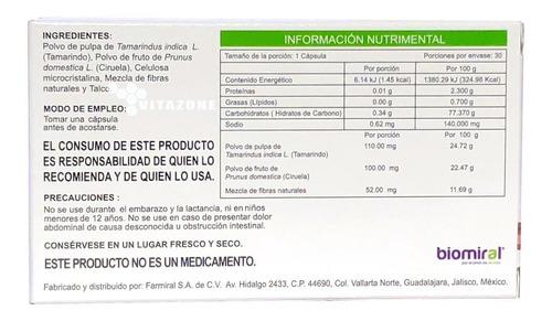tamarin -lx 30 cápsulas 445 mg biomiral