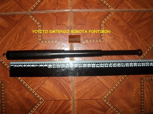 tambo mini baston kubotan retractil en acero para defensa