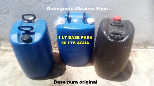 tambor 50 litros base pura detergente flúor alcalino