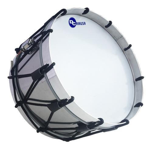 tambor acero junior 13 para banda de guerra, aro de aluminio