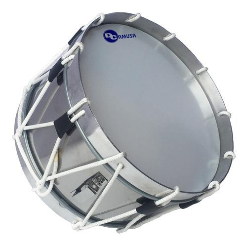 tambor acero reglamentario 15 para banda de guerra, aro aluminio