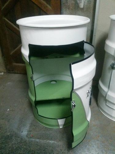 tambor armario decorativo - kombi corujinha - luz interna