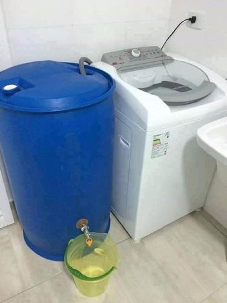 Tambor coleta gua 200 litros com torneira esfera r 135 for Tambores para agua