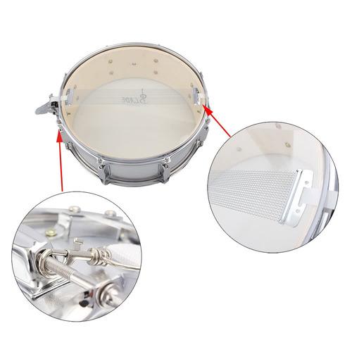 tambor de 14 pulgadas con polillo hombrera y llave plateado