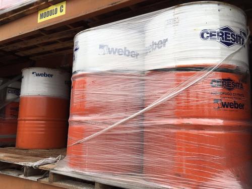 tambor de ceresita x 200 kg hidrofugo- distribuidor oficial weber