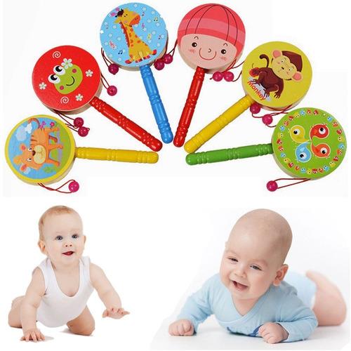 tambor de madera juguete estimulación musica bebés - benjoa