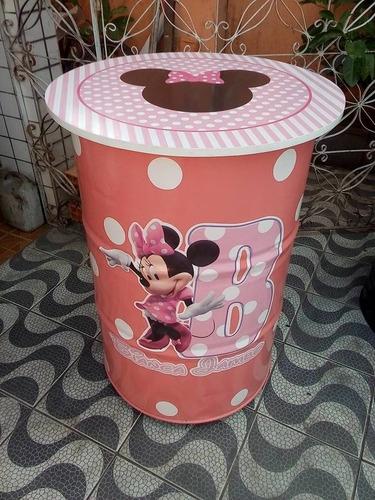 tambor decorativo da minnie mouse
