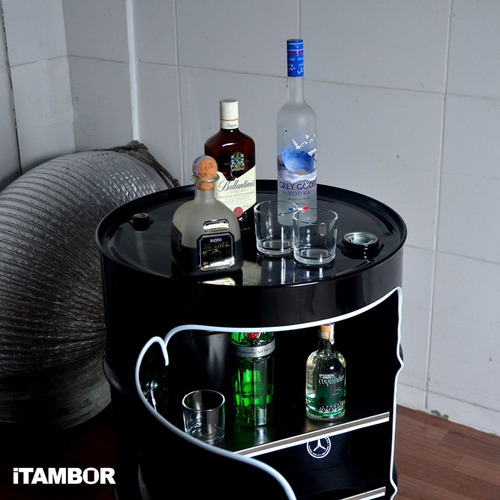 tambor decorativo de metal - receba em caraguatatuba