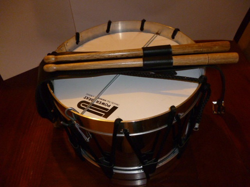 tambor kinder para banda de guerra aros de aluminio