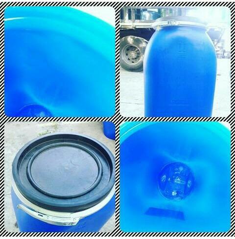 tambor plástico abierto de 150litros