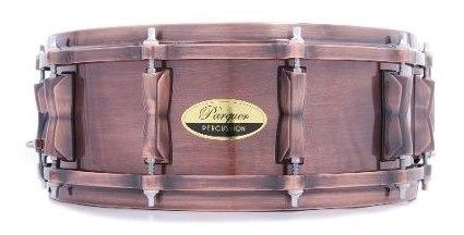 tambor / redoblante cobre con aros de bronce 14x6.5 parquer