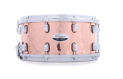 tambor redoblante cobre martillado a mano 14x6.5 parquer