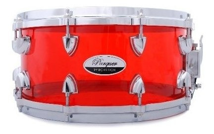 tambor / redoblante de acrilico 14x6.5 parquer