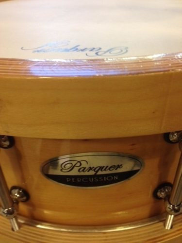 tambor / redoblante de birch c/aros madera 14x5 parquer