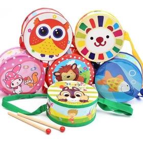 Tamboril Infantil De Colores Con Mazo