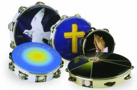 tamborin remo 10 pandereta religiosa profesional