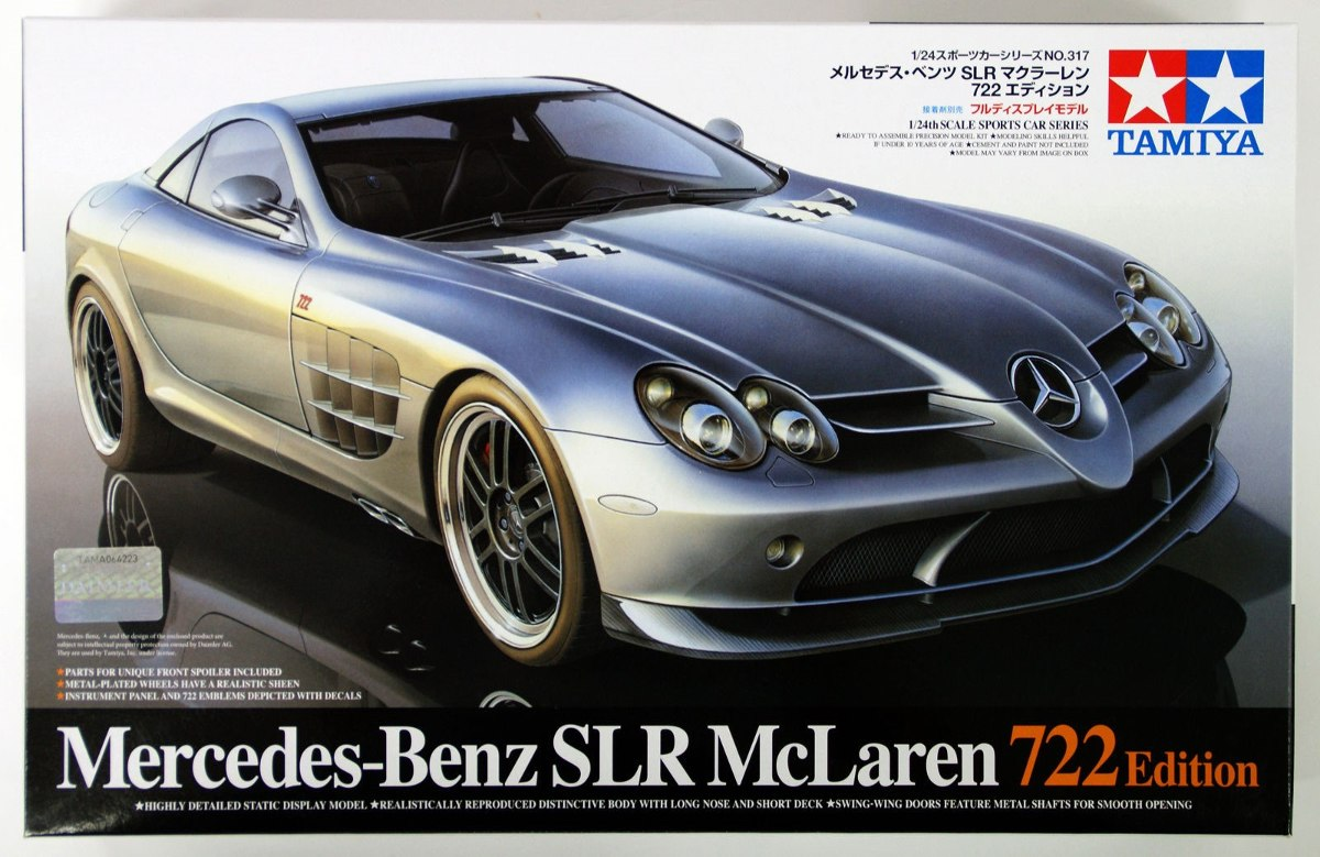 tamiya 1 24 mercedes benz slr mclaren 722 edition kit. Black Bedroom Furniture Sets. Home Design Ideas