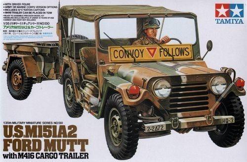 tamiya - u.s. m151a2 ford mutt w/m416 cargo trailer 1/35