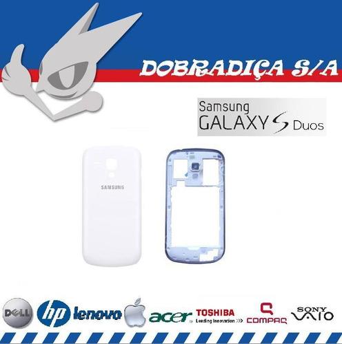 tampa bateria aro friso intermediário galaxy s duos s7562 br