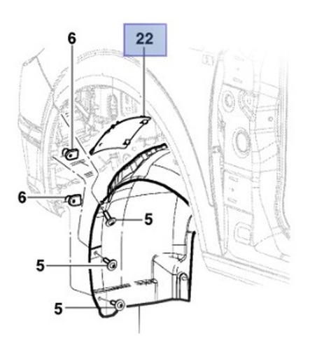 tampa cobertura para-barro dianteiro vectra 2006 2011 par