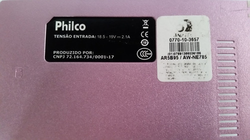 tampa da base inferior notebook philco phn 10a-r123ws rosa