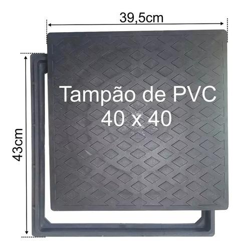 tampa de pvc para caixa de esgoto 40x40 c/ aro