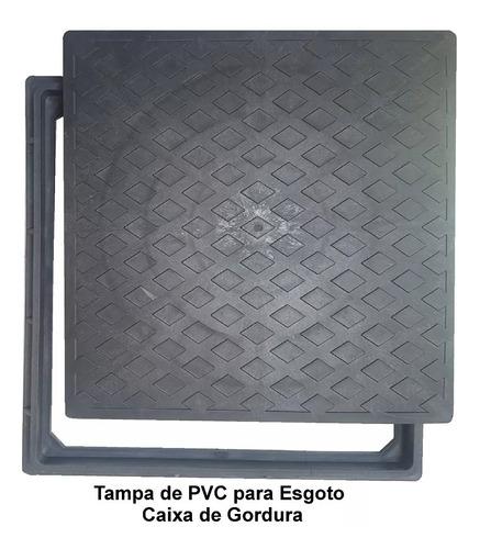 tampa de pvc para caixa de esgoto 40x40 c/ aro kit 6 peças