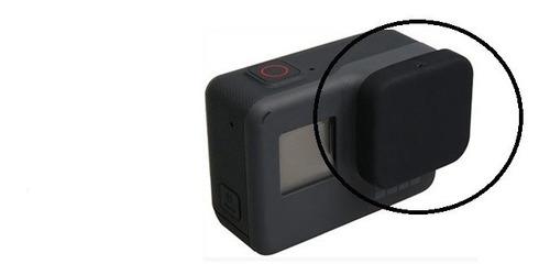 tampa de silicone para gopro hero 5 6 black + anti embaçante