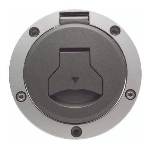 tampa de tanque (combustivel) prata duas barras titan 160/br