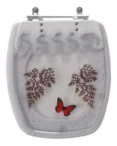 tampa de vaso decorada fit branco para louça celite