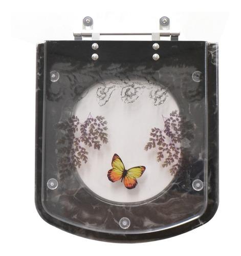tampa de vaso decorado quadra preto para bacia deca