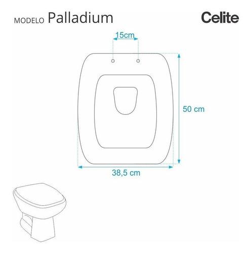 tampa de vaso paladium cinza prata para louça celite