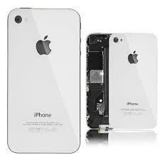 tampa de vidro traseira iphone4/4s cor: preta e branca