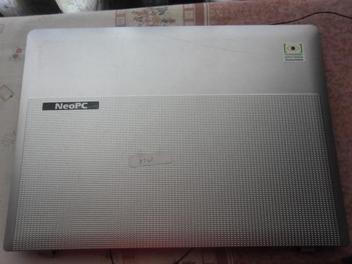 tampa do lcd +moldura notebook neo pc 2110