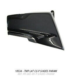 tampa lateral cg 83 a 89 preto par s/adesivo